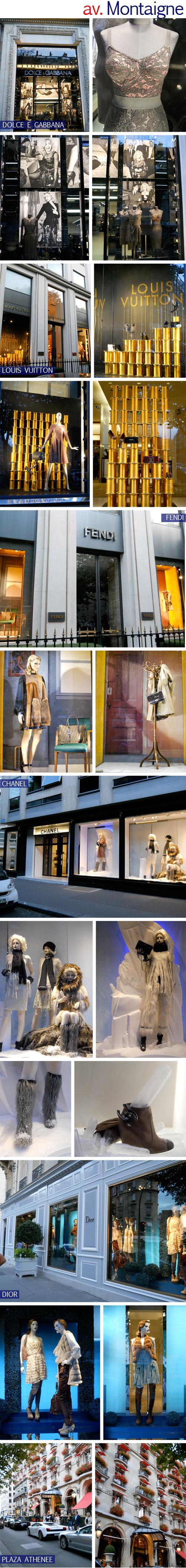 230009b107901 A Dolce e Gabbana expôs várias fotos da campanha com a Madonna na vitrine!  Tipo um mural de fotos, com imagens de família! Os vestidos ficam na frente  e são ...