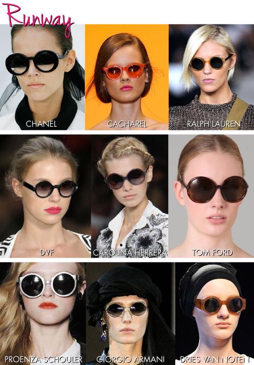 418c18cbd9397 A primeira foi a Chanel com seus óculos de lente meio a meio. Ele foi um  hit entre as fashionistas