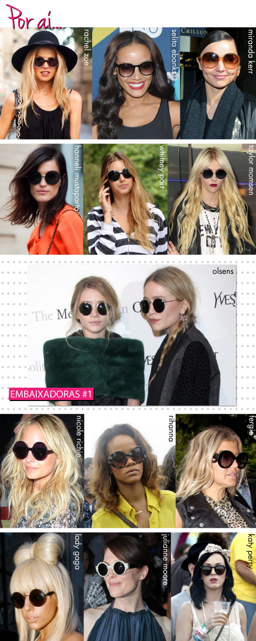 As maiores adeptas das lentes circulares são com toda certeza as irmãs  Olsen. Elas devem usar mais que John Lennon, imortalizador do modelo. f278bf6247